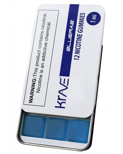 Krave-Nic 12pc / 1mg Nicotine Gummies BlueRaz Flavor