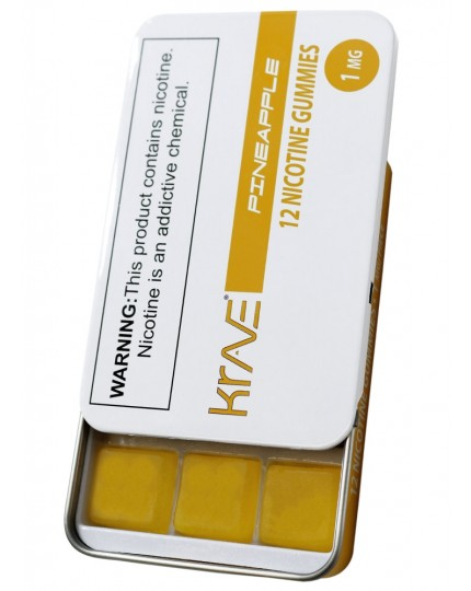 Krave-Nic 12pc / 1mg Nicotine Gummies Pineapple Flavor