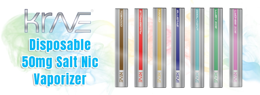New Krave Disposable Salt-Nic Vaporizer
